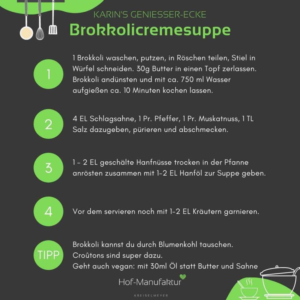 Brokkolicremesuppe Anleitung